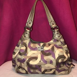 Coach Madison Maggie Purple/Gray Purse